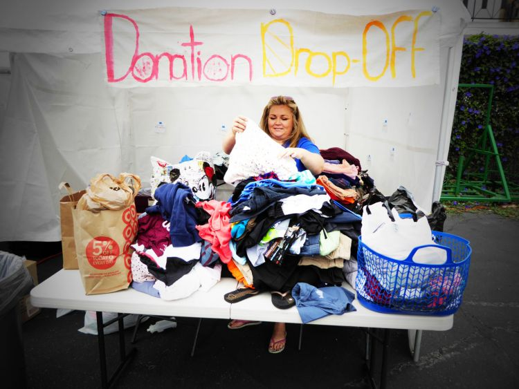 Our awesome volunteers organized the many donations that people dropped off throughout the day