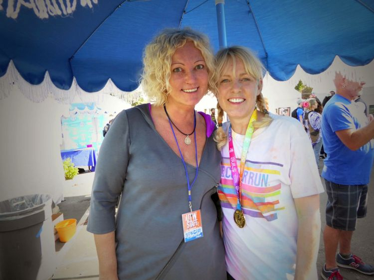 UTW Day founder Maike Both and her friend Marianne Broughton