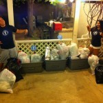 Kerm and Nicole rightfully proud of their guests' donations!