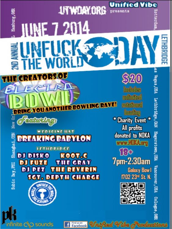 The official UTW Day 2014 Lethbridge poster