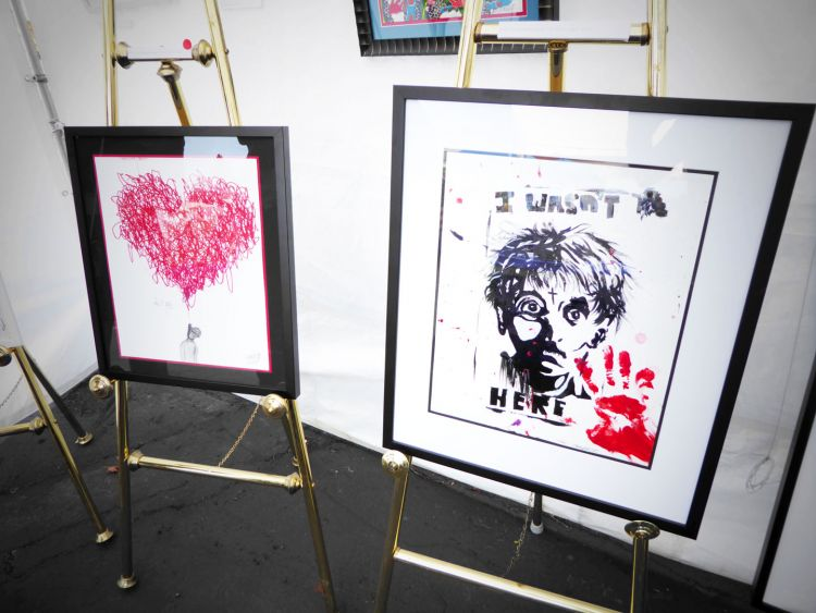 Some of the amazing pieces by young homeless and at-risk artists